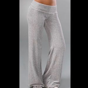 • Juicy Couture • Gray Wide Leg Velour Track Pants